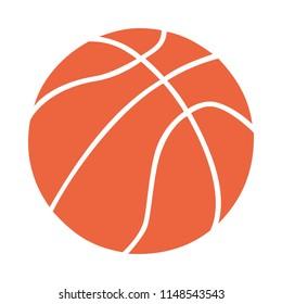 Basketball ball vector  simple clean design logo  brand white normal lines orange white