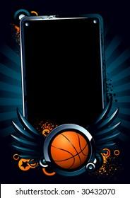 Basketball banner on modern background