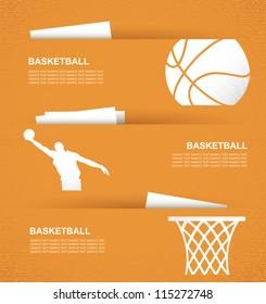 Basketball banners - vector illustration