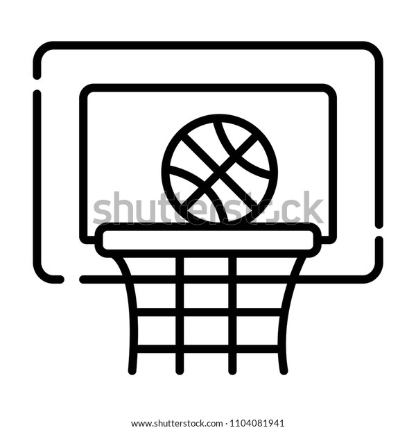 Basketball basket and ball sign icon. Sport symbol.