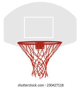 Basketball basket, basketball hoop, basketball net, basketball hoop isolated