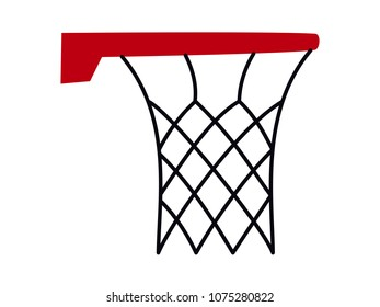 Basketball basket hoop vector isolated simple clean design logo mark brand red black