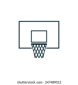 basketball basket icon on white background