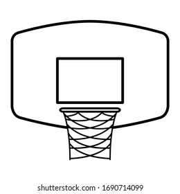Basketball board icon in trendy outline style design. Vector illustration.