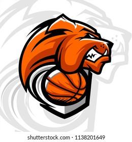 Basketball Bulldog Team Logo