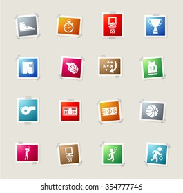 Basketball card icons for web