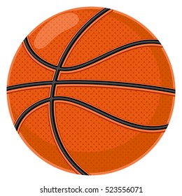 Basketball. Cartoon vector illustration on a white background.