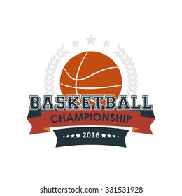 Basketball championship emblem vector. Design for your sport graphic project.