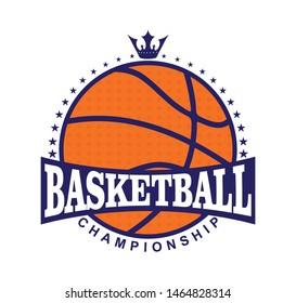 Basketball championship logo, Modern professional basketball logo design.
