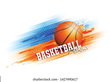 Basketball competition tournament template poster or banner vector design.