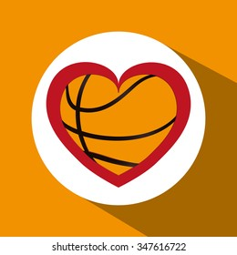 Basketball concept with championship icons design, vector illustration 10 eps graphic.