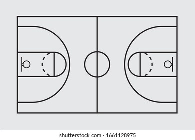 Basketball Court Flat Vector Icon