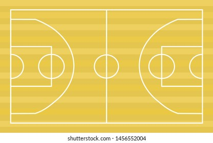 Basketball court floor with line background. Vector illustration.
