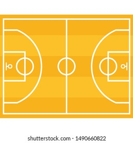 Basketball court, icon. Graphic template. Vector background.