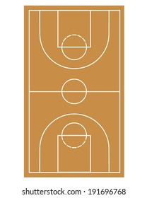 Basketball Court - Vector