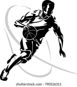 Basketball Dribble Abstract