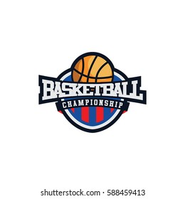 Basketball Emblem International Logo Vector