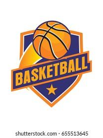 Basketball emblem vector logo template