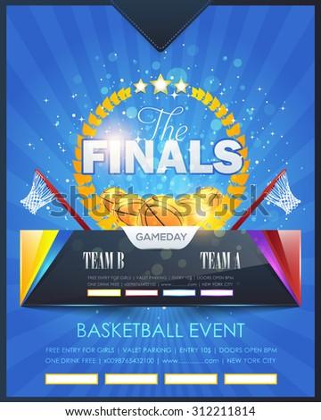 basketball event poster template vector design stock vector royalty