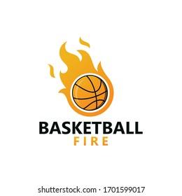 Basketball Fire Logo Template Design