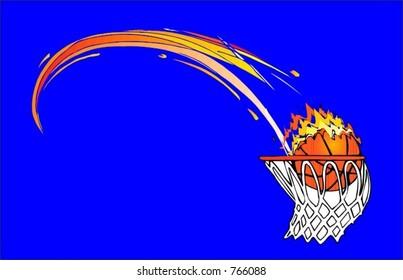 Basketball Flaming Ball