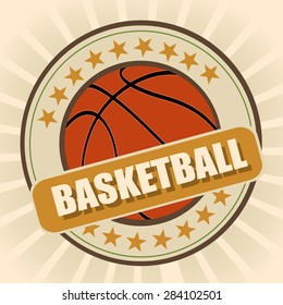 Basketball flat icon, symbol, sign