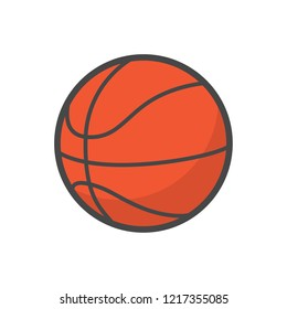 basketball flat vector icon