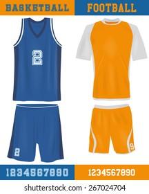 Basketball and football equipment