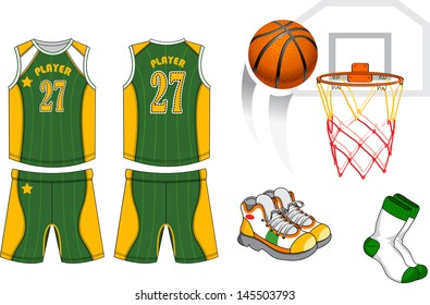 new style cf404 ea5f2 Basketball Uniform Images, Stock Photos & Vectors | Shutterstock