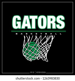 Basketball, Gators basketball, sports logo, team design