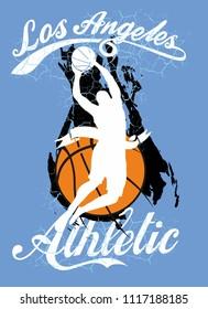 Basketball graphic design vector art