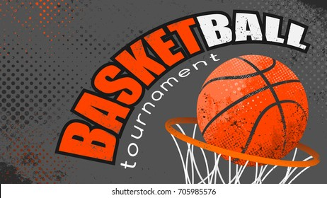 Basketball grunge