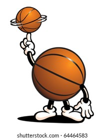 Basketball Guy Spinning Ball