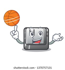 With basketball H button installed in cartoon game