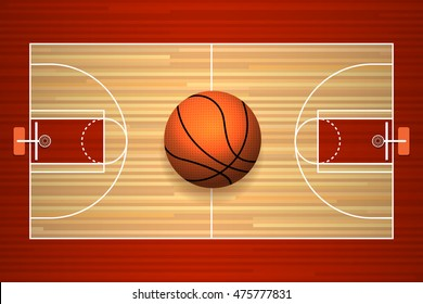 Indoor Basketball Court Background Stock Vectors, Images & Vector ...