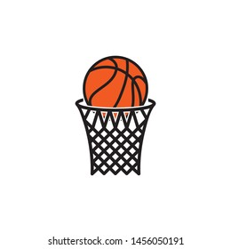 Basketball hoop icon vector. Basketball symbol illustration. Logo design on white background.