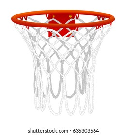 Basketball hoop, isolated on white. Color vector illustration