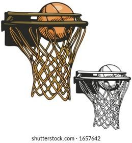Basketball hoop. Vector illustration