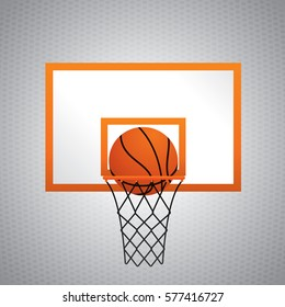 Basketball with hoop. Vector illustration