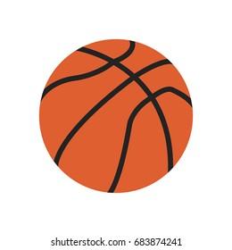 Basketball Icon. Basketball ball. Flat design.