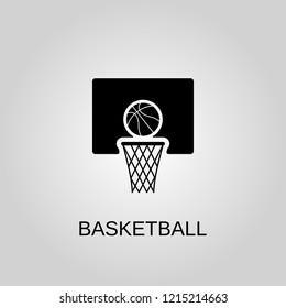 Basketball icon. Basketball symbol. Flat design. Stock - Vector illustration