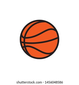 Basketball icon vector. Basket ball icon symbol illustration. Simple design on white background.