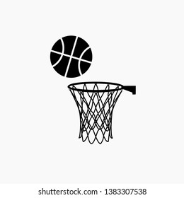 basketball icon vector isolated sign