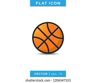 Basketball Icon Vector Logo Design Template.