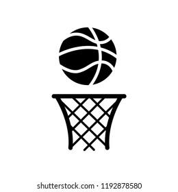 Basketball icon vector logo template style