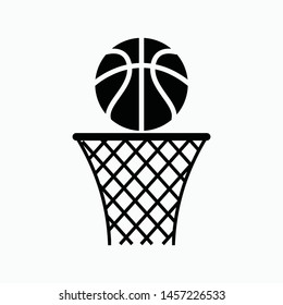 basketball icon. vector sign symbol isolated