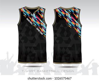 Basketball jersey, Black sport illustration.