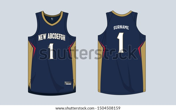 Basketball jersey mockup template vector design