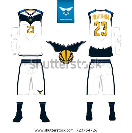 basketball jersey shorts socks template basketball のベクター画像