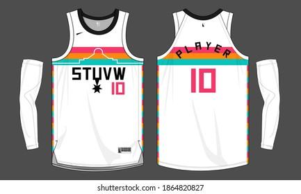 Basketball jersey template vector mockup